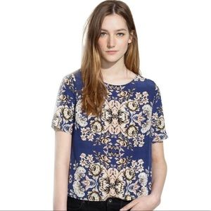 Madewell 100% Silk Floral Top